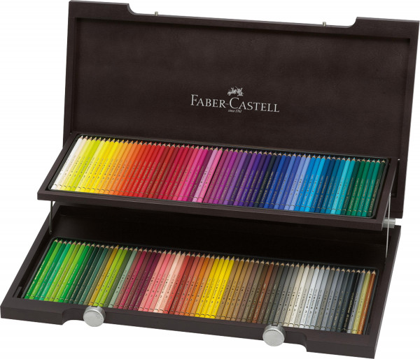 Faber-Castell Polychromos Gesamtsortiment | Holzkoffer