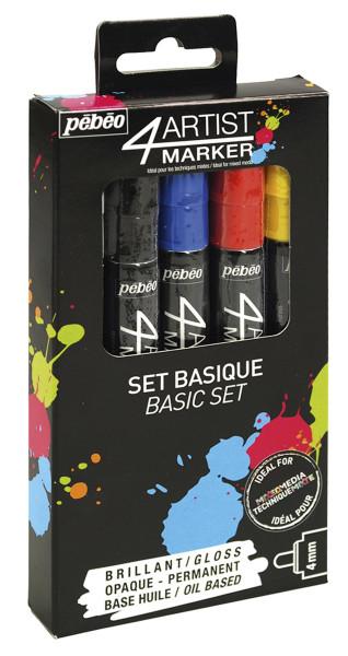 Pébéo 4Artist Marker-Set | 5 Marker