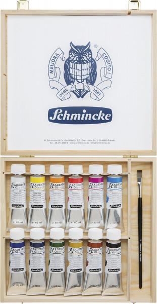 Schmincke – Akademie Öl Color Ölfarben-Set im Holzkasten