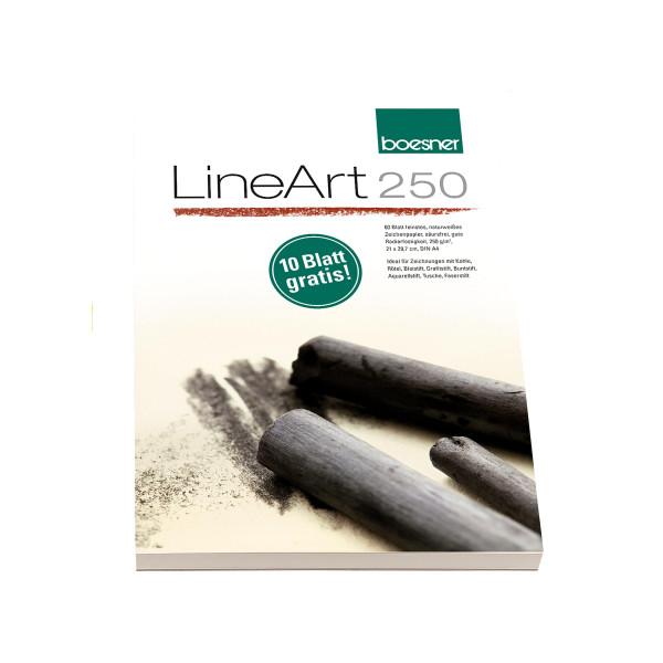 MAILING_2021-03_Mrz: boesner LineArt 250 Zeichenpapier-Block   21 x 29,7 cm/DIN A4 + 10 Blatt gratis