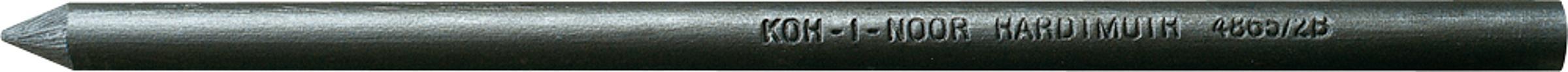 120mm L/änge Minenst/ärke 2mm H/ärtegrad B KOH-I-NOOR Graphitminen Duo f/ür Minenbleistift