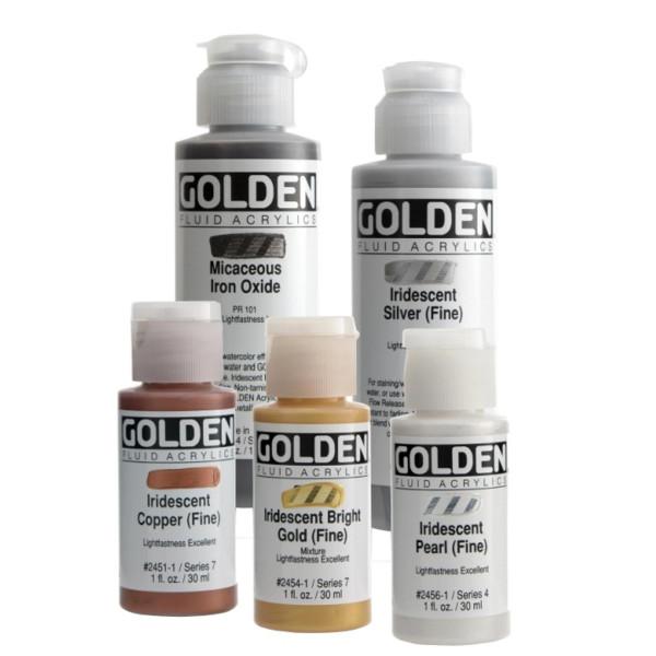 Golden Fluid Acrylics   Iridescent Colors