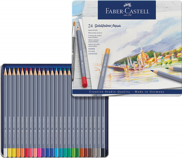 Faber-Castell Goldfaber Farb- und Aquarellstifte-Set