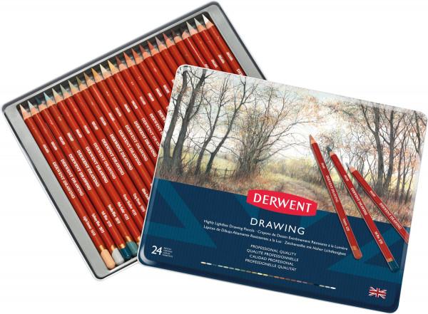 Derwent Drawing Künstlerstift-Set | Metalletui