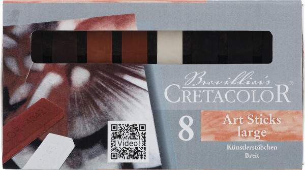 Brevillier's Cretacolor Breite Künstlerstäbchen-Set | 8 Kreiden