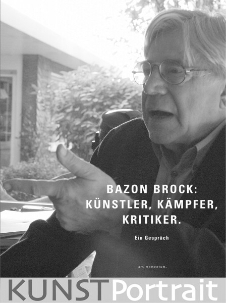 KUNSTPortrait: Bazon Brock – Künstler, Kämpfer, Kritiker | Ars Momentum Kunstvlg.