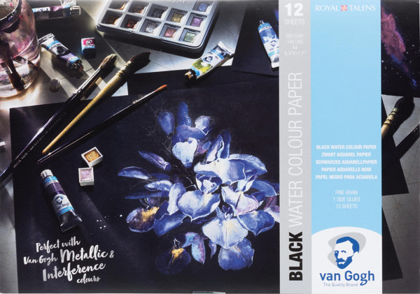 Talens Van Gogh Schwarzes Aquarellpapier