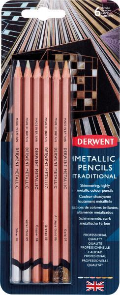Derwent Metallic Pencil-Set | 6 Farben im Bister