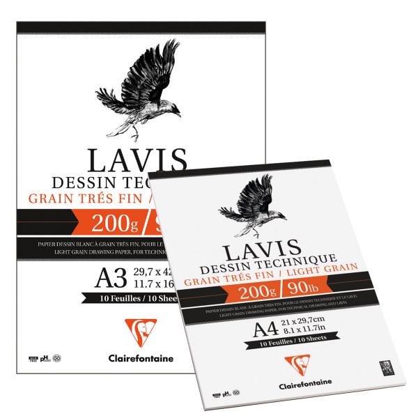 Clairefontaine Lavis Technisches Zeichenpapier, Block