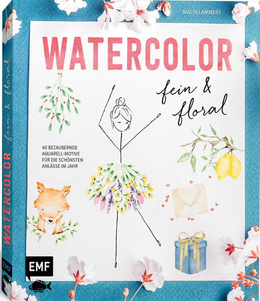 Watercolor fein und floral (Malin Lammers) | EMF Vlg.