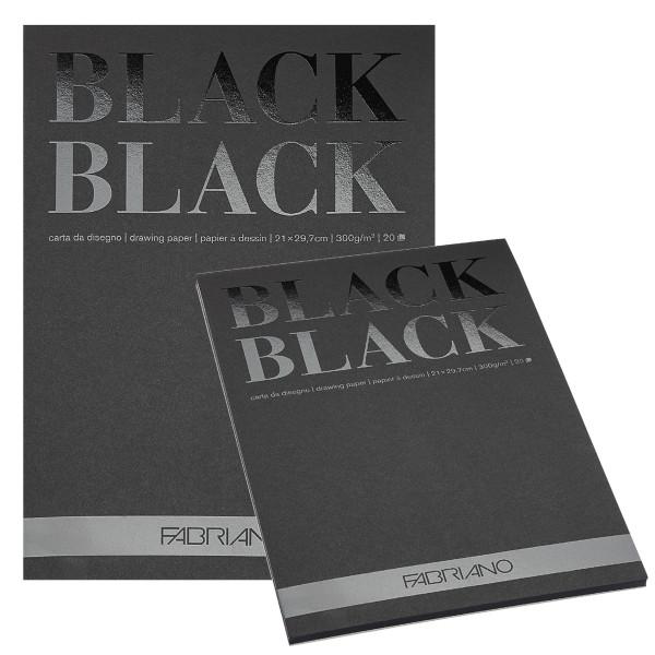 Fabriano Black Black Zeichenpapier-Block