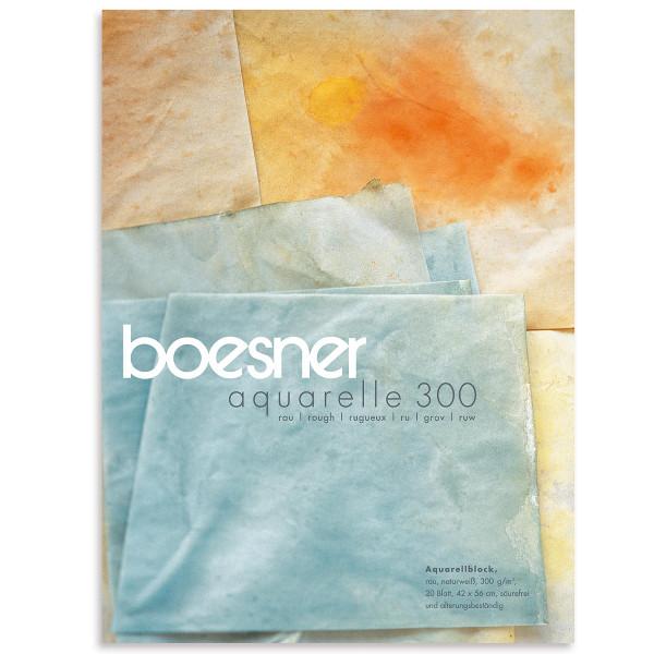 boesner – Aquarelle 300 Profi-Aquarellblock, rau