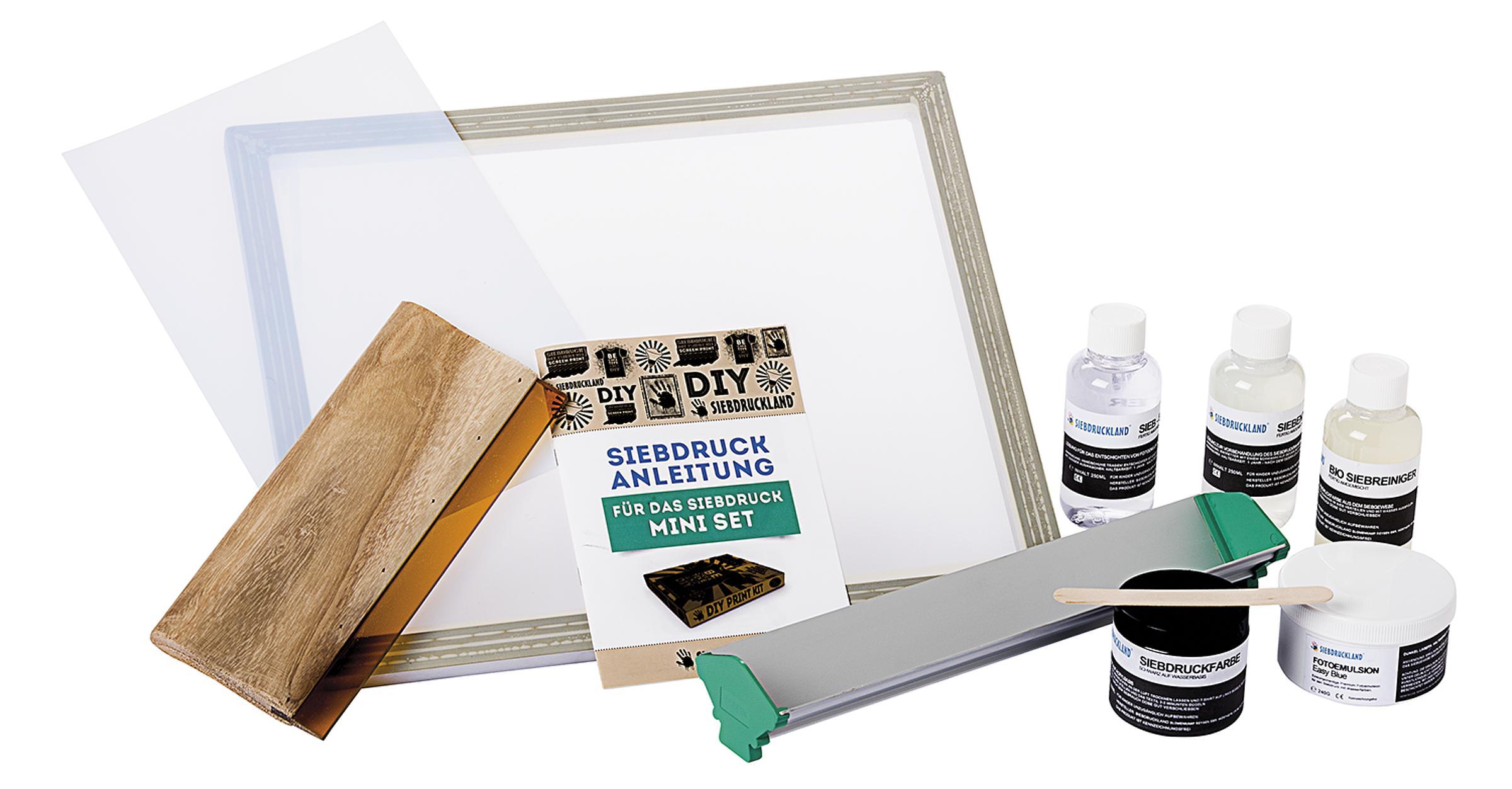 Angela /& Alex Siebdruck-Starter-Set Folie und Maskenband Holz Siebdruck-Rakel Siebdruckrahmen 20-teilig Tintenstrahl-Transparenz 25,4 x 35,6 cm wei/ßes Netzgewebe
