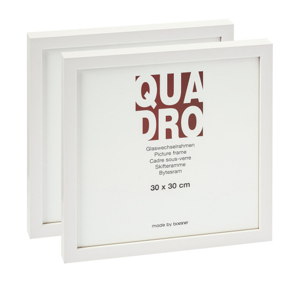 MONAT_2021-08_Aug: Quadro Weiß GWR | 2x 30 x 30 cm