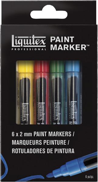 Liquitex Paint Marker-Set: 6 Stifte [DE-online]