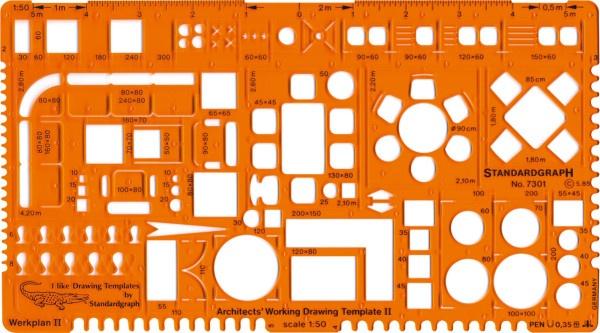 Standardgraph Architekt- Werkplanschablone II