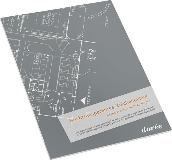 60 g/m², Block mit 50 Blatt | Dorée Hochtransparentes Zeichenpapier