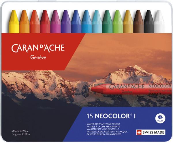 Caran d'Ache Neocolor I® Wasserfeste Wachspastelle im Set