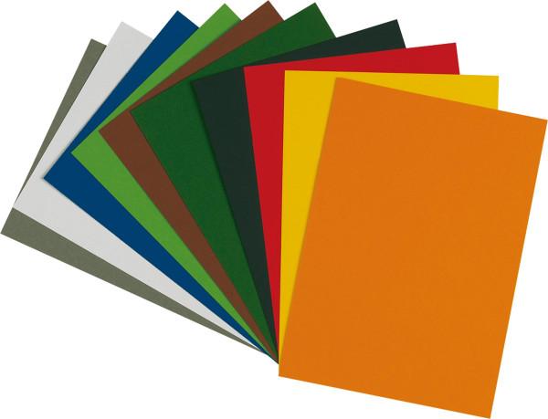 Sortiment mit 100 Bogen   boesner Tonzeichenpapier