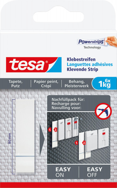 tesa® Klebestreifen für Tapeten und Putz