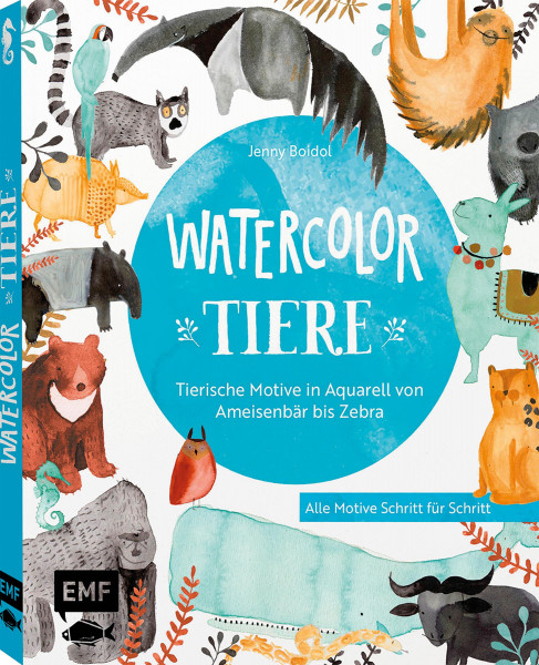 Watercolor-Tiere (Jenny Boidol)   EMF Vlg.