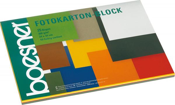 Block mit 25 Blatt, 10-farbig | boesner Fotokarton