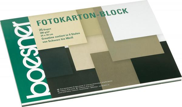 boesner Fotokarton-Block, Grautöne