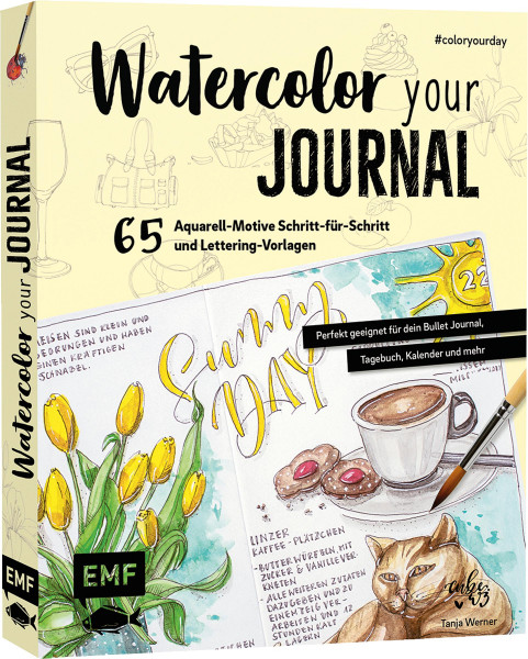 Watercolor your Journal #colouryourday (Tanja Werner) | EMF Vlg.