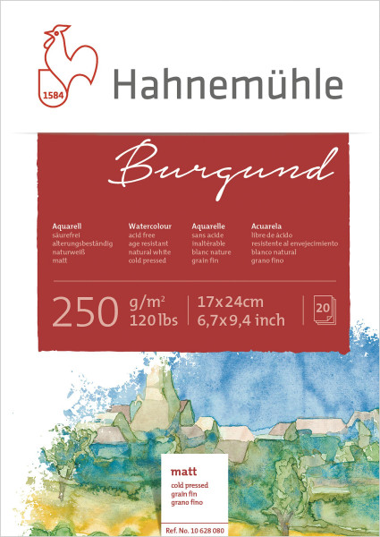Hahnemühle Burgund Akademie-Aquarellblock