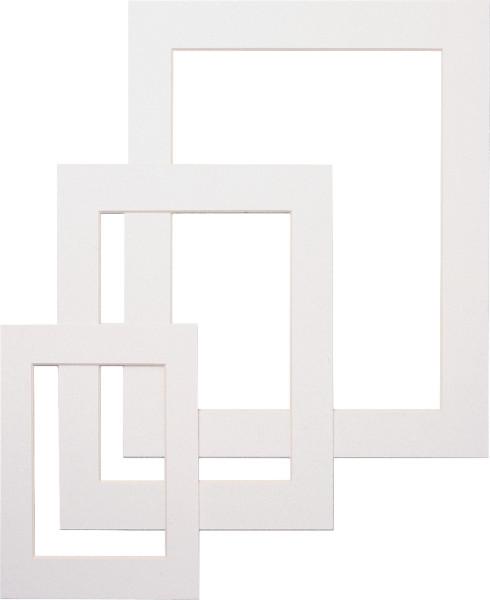 Dorée Fertigpassepartout, Weiß mit 1 Ausschnitt
