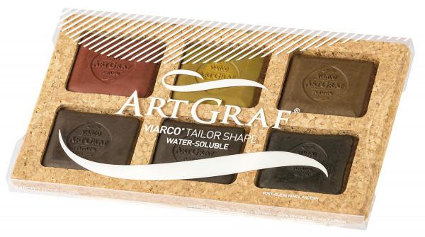 Art Graf Grafitkreide-Set   6 Kreiden