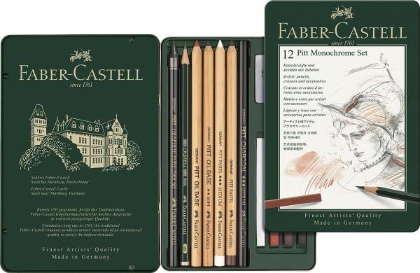12-teiliges Set | Faber-Castell Monochrome-Set