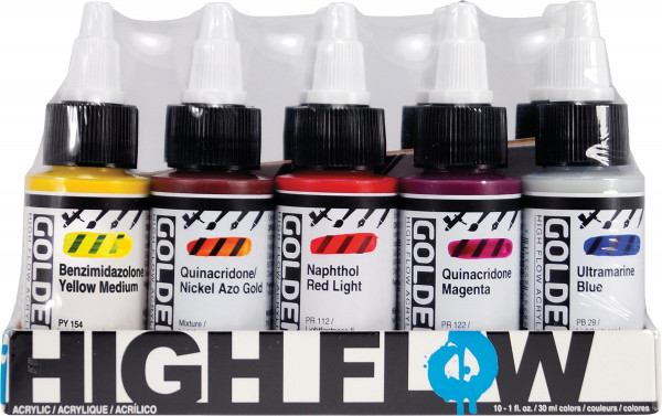 Golden High Flow Acrylics Assorted Colors Set