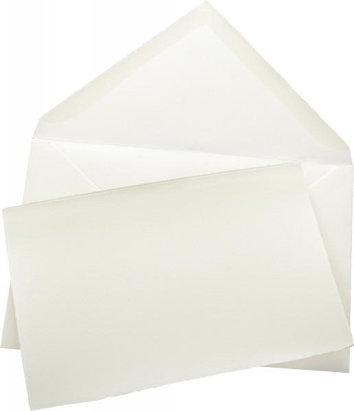 boesner Karten und Kuverts mit Büttenrand (Echt-Bütten-Set)