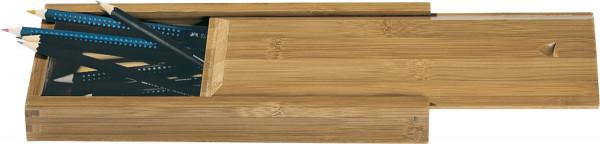 boesner Bambusbox für Pinsel und Stifte