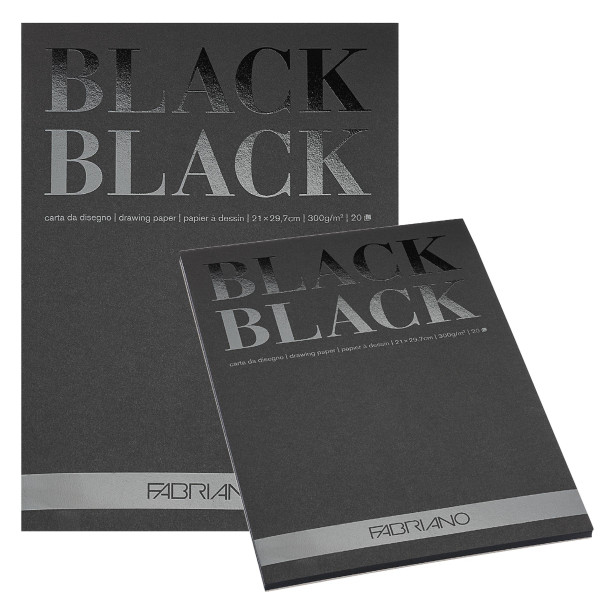 Fabriano Black Black Zeichenpapier