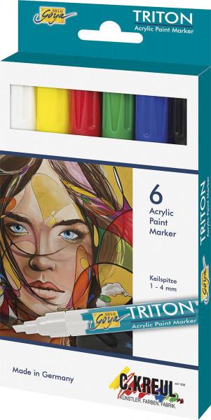 Kreul – Solo Goya Triton Acrylic Paint Marker, 6er-Set