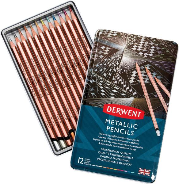 Derwent Metallic Pencil-Set | 12 Stifte